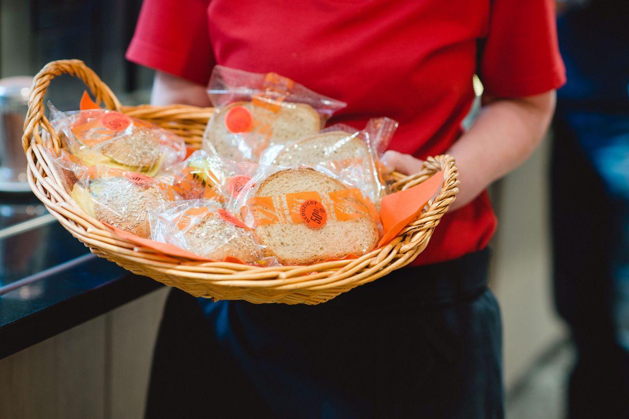 Abfall vermindern mit Halbpreis-Sandwiches